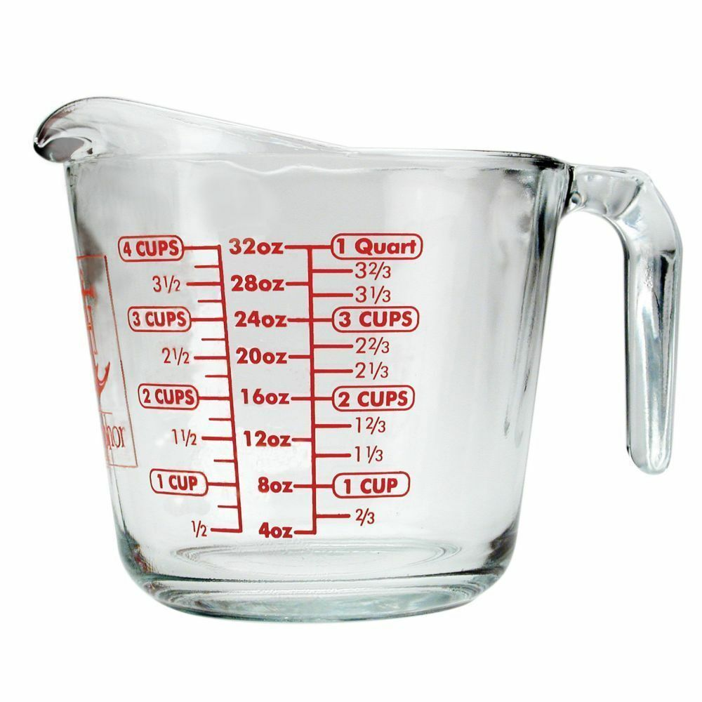 anchor hocking 4 cups 32 oz measuring cup the original made in usa ebay. Black Bedroom Furniture Sets. Home Design Ideas