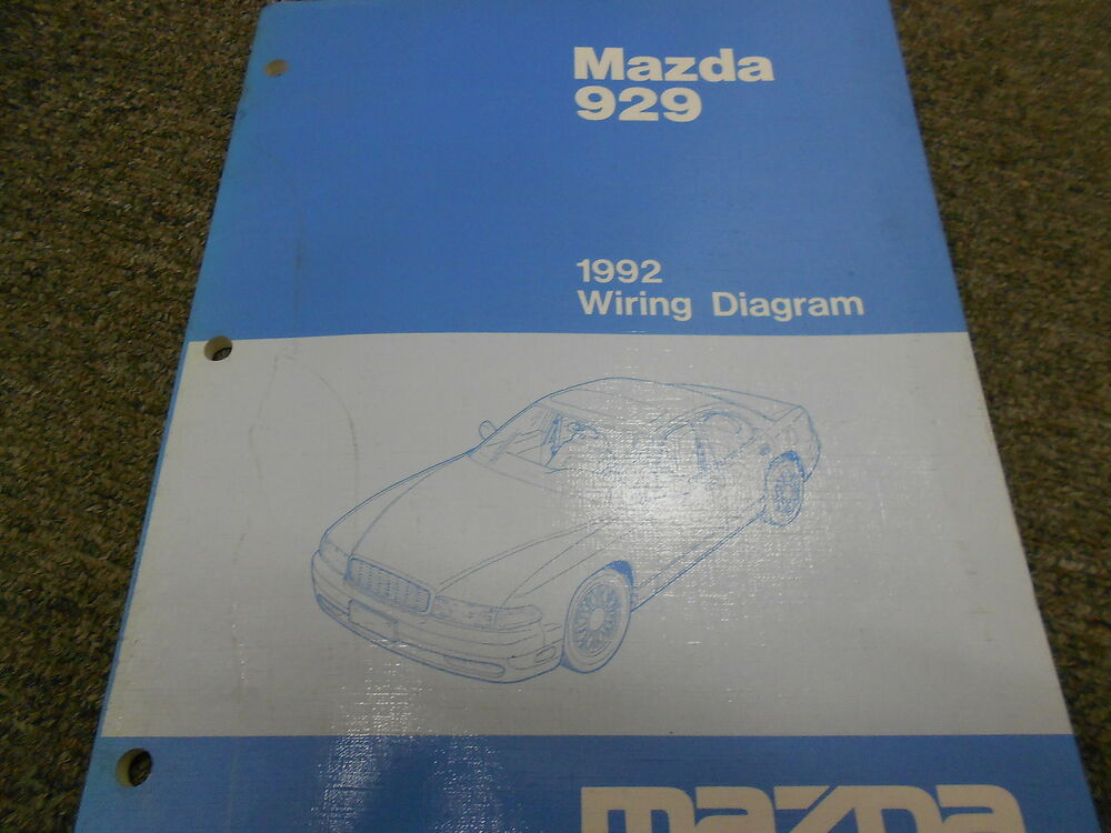 992 Mazda 929 Electrical Wiring Diagram Service Repair Manual OEM 92 ...