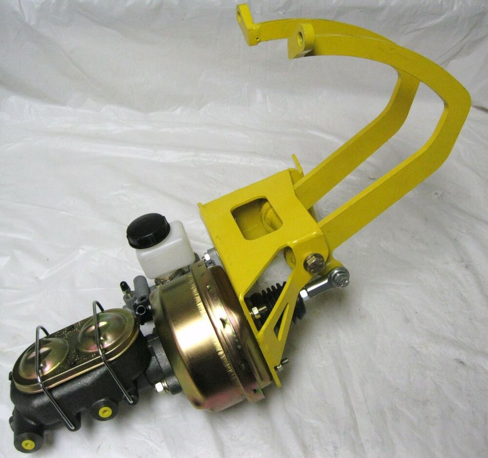 Universal yellow power clutch pedal assembly kit brake booster master cylinder ebay
