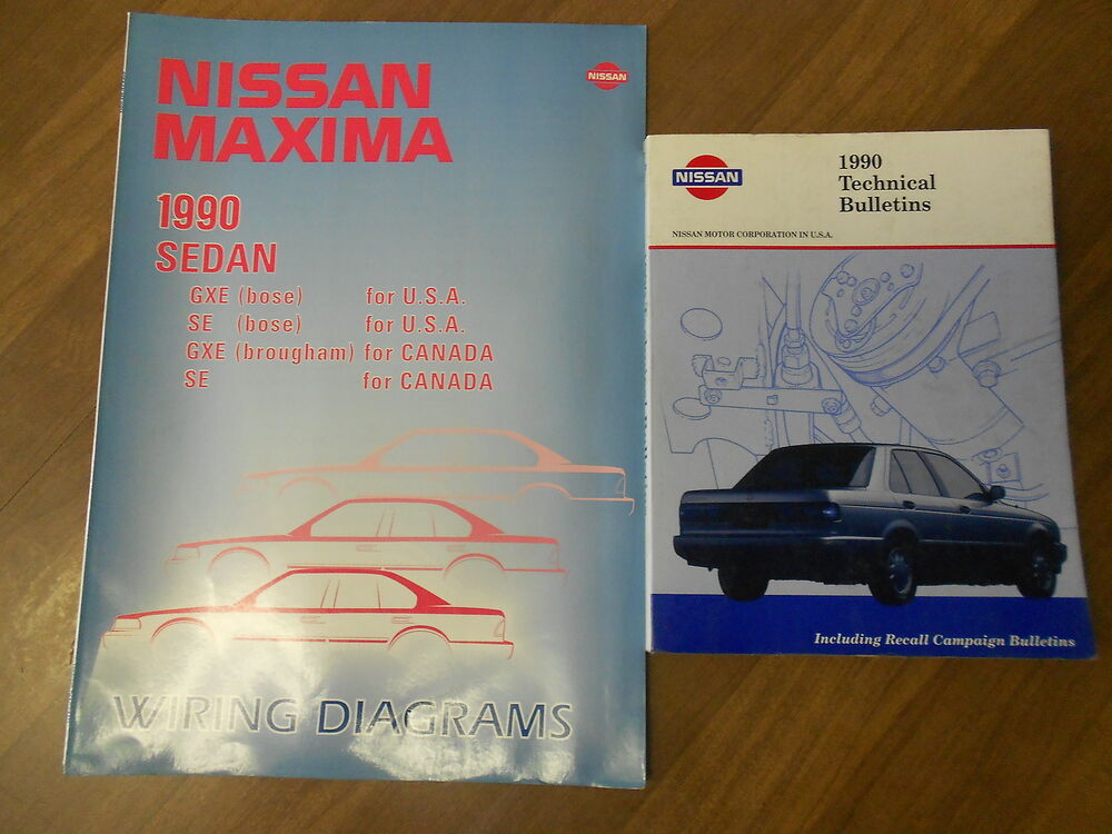 1990 Nissan Maxima Wiring Diagram Set Service Repair