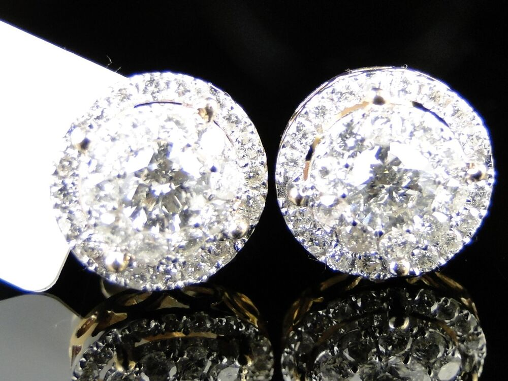 1 5 ct earrings 14k yellow gold solitaire look vs stud earrings 1537