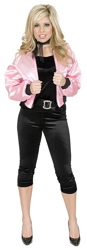 PINK LADIES JACKET 50s grease sexy womens adult halloween ...