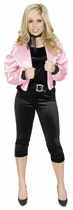 Pink Ladies Jacket 50s Grease Sexy Womens Adult Halloween