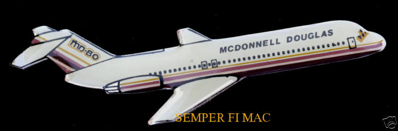 authentic md 80 mcdonnell douglas hat pin jet airliner pilot aircrew ebay. Black Bedroom Furniture Sets. Home Design Ideas