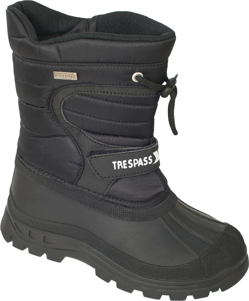 new trespass waterproof snow boots mens faux fur lined