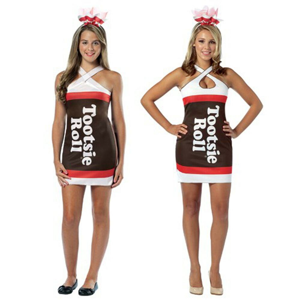 Adult Teen Candy Chocolate Treat Tootsie Roll Fancy Costume Teardrop