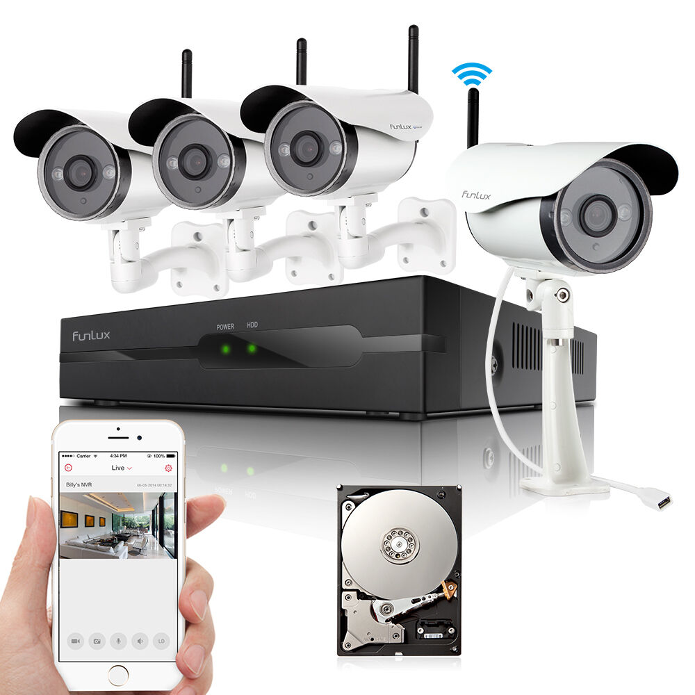 Funlux 4ch Nvr 4 720p Ip Network Wireless Outdoor Home