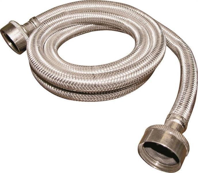 new plumb pak pp23832 stainless steel 5 foot washing machine hose with washers ebay. Black Bedroom Furniture Sets. Home Design Ideas