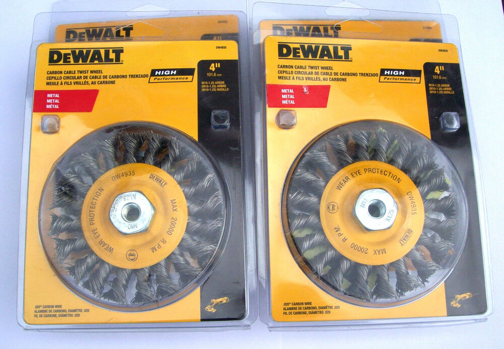 4 Dewalt Dw4935 4 Quot Knotted Twisted Wire Wheels Fits 4