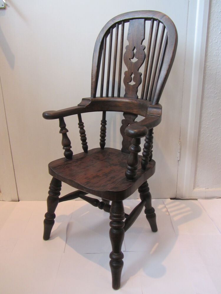 Ash Amp Elm High Back Child S Windsor Antique Style Chair