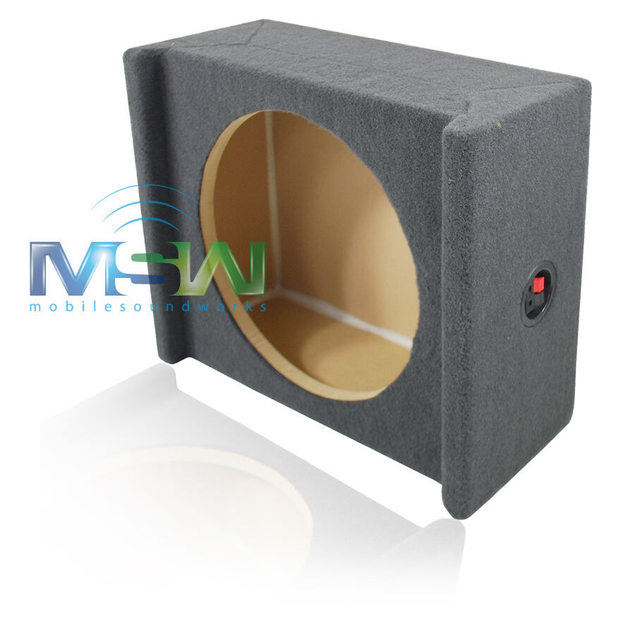 Shallow mount mdf downfiring enclosure box for single 12 for Box subwoofer in vetroresina