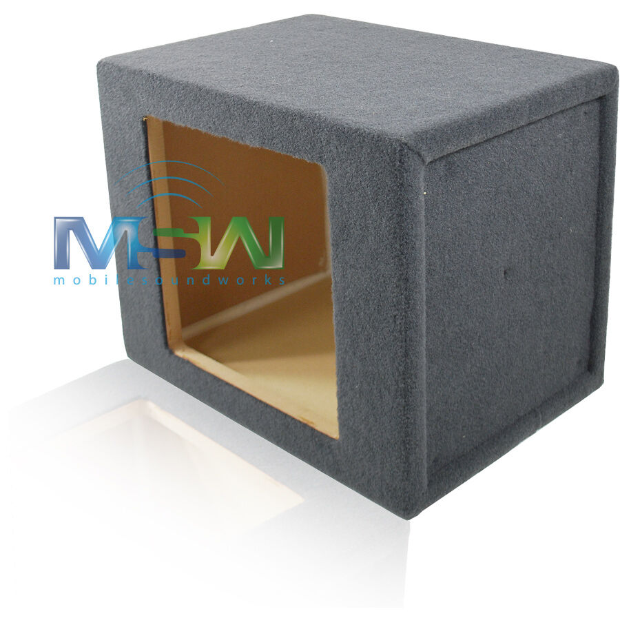 Single 10 inch sealed mdf enclosure box for kicker for Box subwoofer in vetroresina