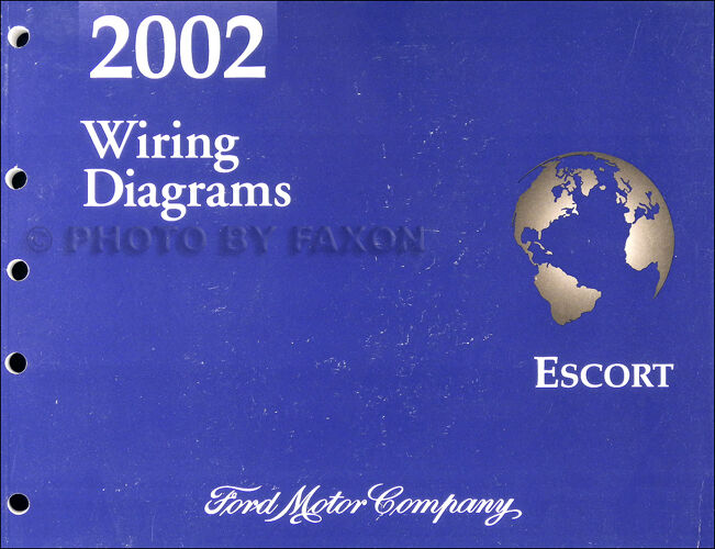 2002 Ford Escort And Zx 2 Zx2 Wiring Diagram Manual Oem