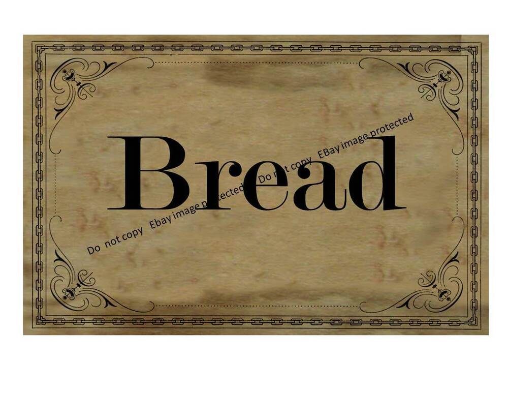 Box Label: Primitive Bread Box Label FH361 May Resize To Needs.