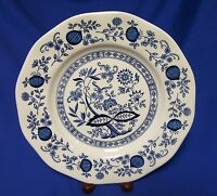 Wedgwood Enoch Blue Onion Dinner Plate England Longines Symphonette
