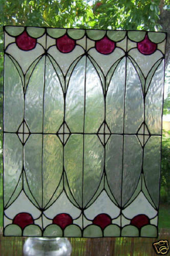 faux stained glass geometric window cling ebay. Black Bedroom Furniture Sets. Home Design Ideas