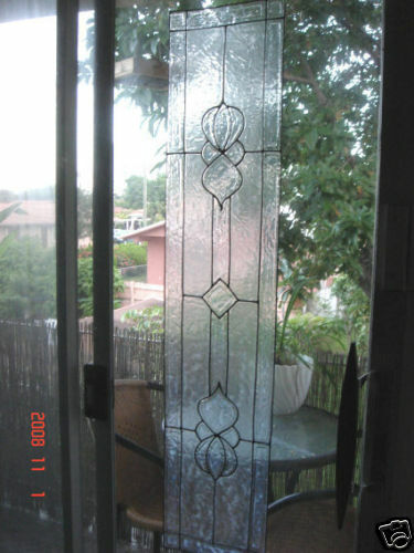 faux stained glass bevel sidelight window cling ebay. Black Bedroom Furniture Sets. Home Design Ideas