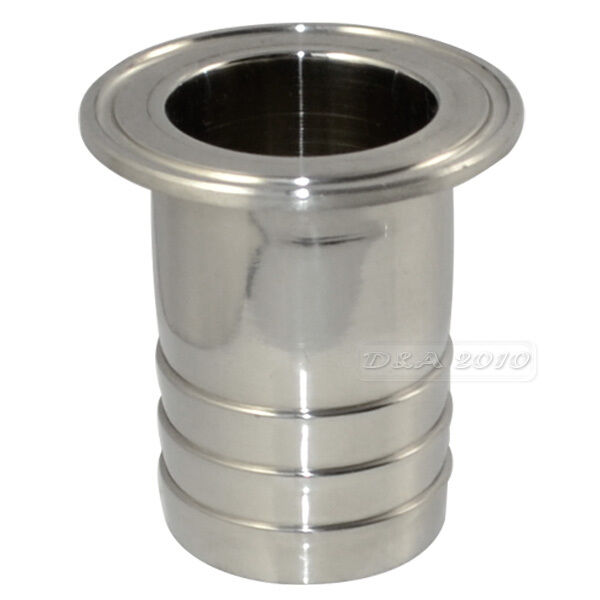 Mm quot od sanitary hose barb adapter pipe fitting fits