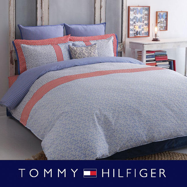 Tommy Hilfiger Boho Twin Comforter Amp Sham Set Blue Red
