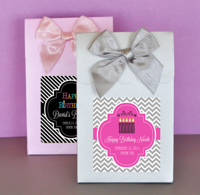 18th Birthday Birthday Party Favor Gumball Candy: 24 Birthday Party Sweet Shoppe Candy Boxes Bags Favors