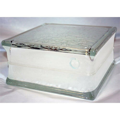 pre drilled icescapes glass block 8 x 8 x 4 case of