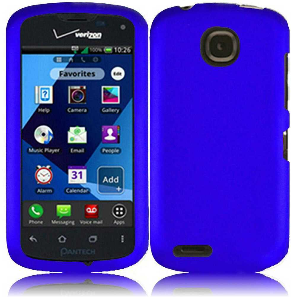 For Pantech Marauder Rubberized HARD Case Snap On Phone Cover Blue ...