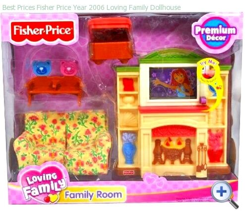 Fisher Price Loving Family Deluxe Family Room 2006 Twin Time New Ebay