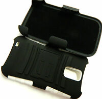 Samsung Galaxy S 2 II S2 T989 T-Mobile BLACK&WHITE HARD Holster Case COVER+STAND