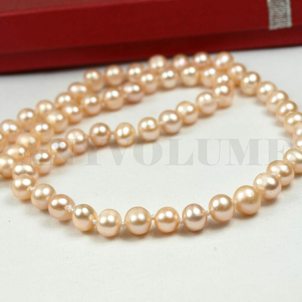 """6.5mm 17"""" Fresh Water Pearl Necklace with Gift Box and ..."""