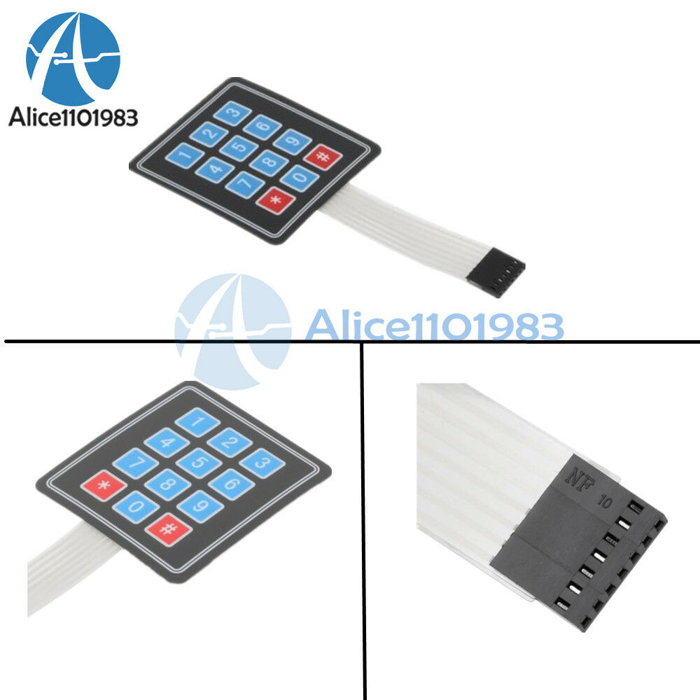 Matrix array key membrane switch keypad keyboard
