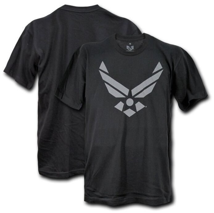 Black Us Air Force Usaf Military Wings T Shirt T Shirts