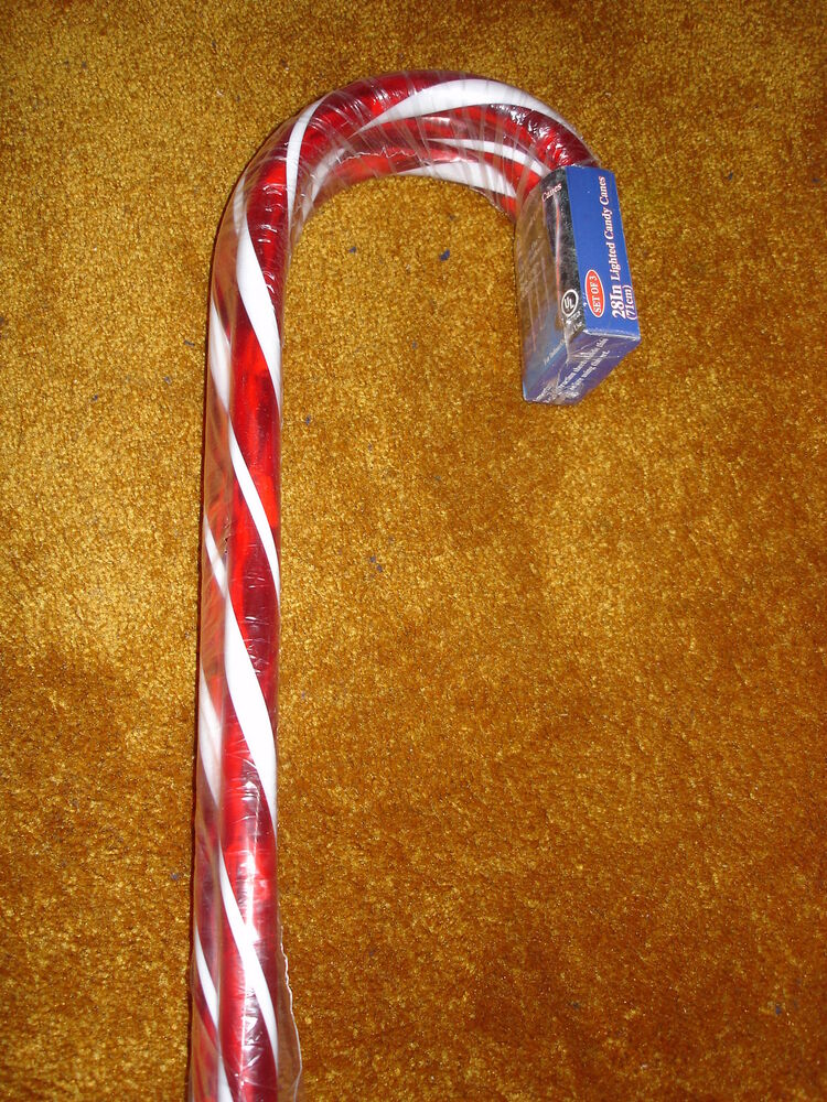 Lighted Candy Canes Set Of 3 Ebay