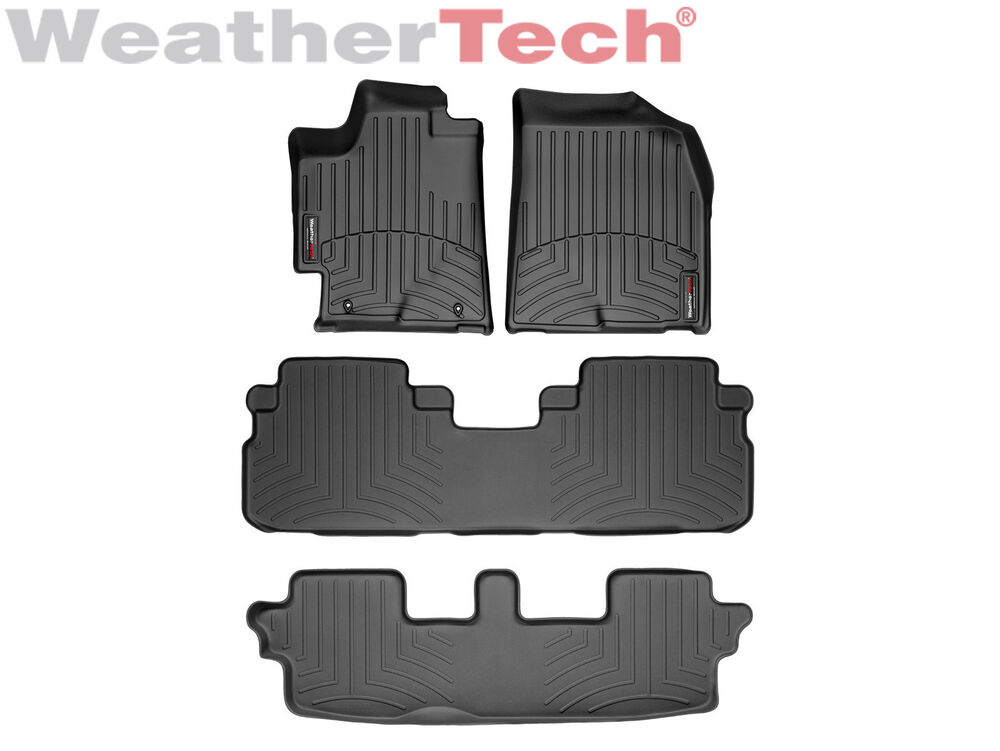 weathertech floor mats floorliner for toyota highlander