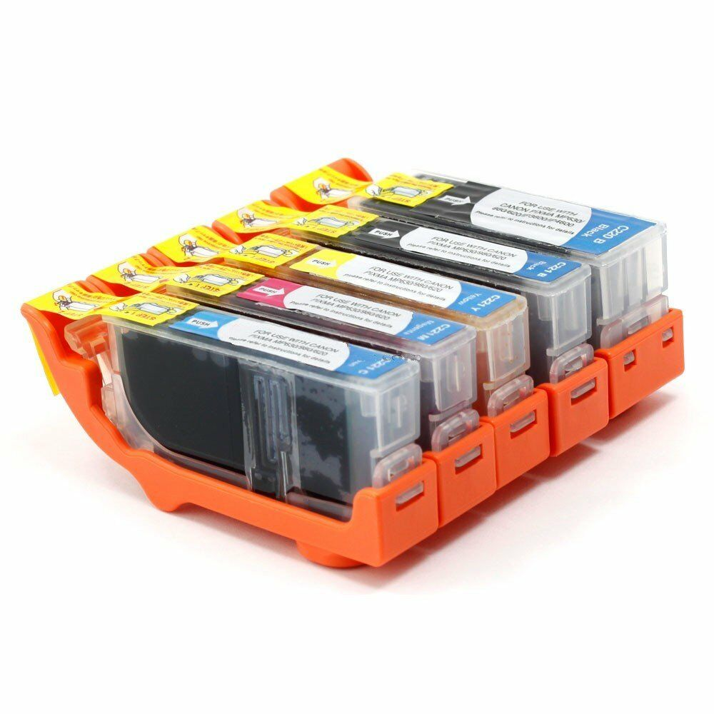 Set Of 5 Ink Cartridges W/ CHIP For CANON Pixma MX860