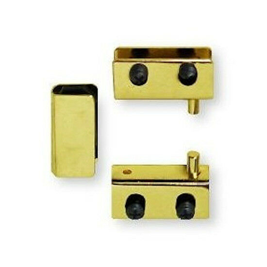 H17255 Bp Brass Plate Glass Door Pivot Hinge Set W Door