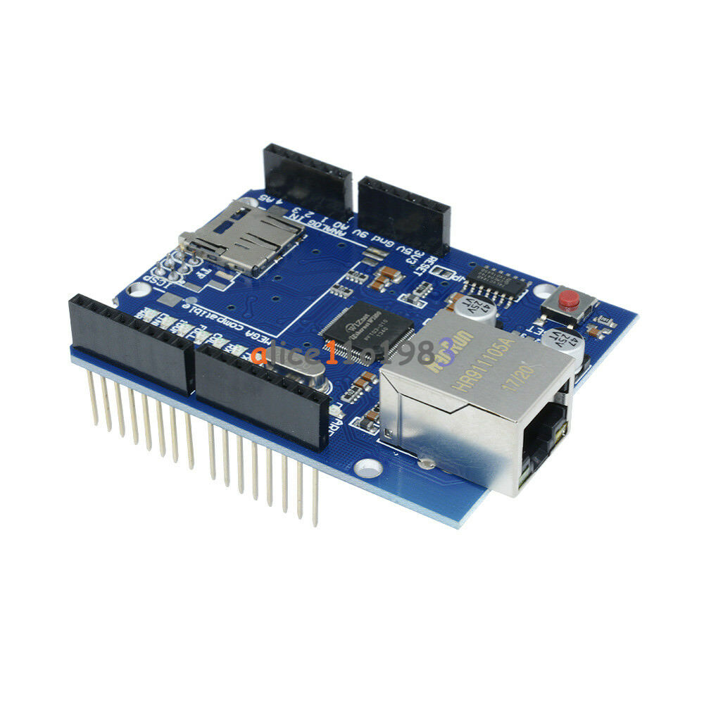 Ethernet shield w for arduino main board uno