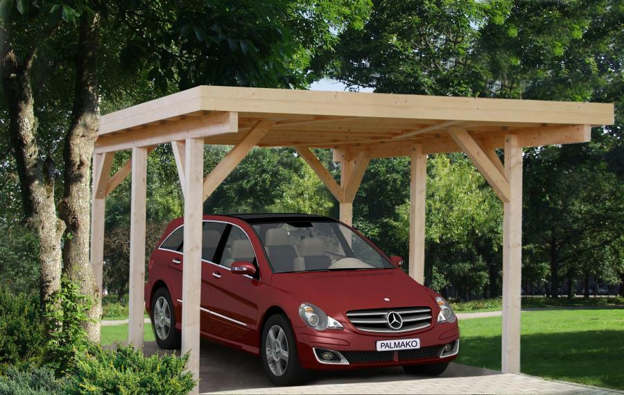 carport karl 1 einzelcarport 360x512cm 12x12cm leimholzpfosten holz garage neu ebay. Black Bedroom Furniture Sets. Home Design Ideas