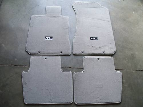 Genuine Oem 2005 2008 Acura Rl Gray Carpet Floor Mats Ebay