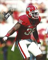 SHAWN WILLIAMS GEORGIA BULLDOGS SIGNED 8X10 PHOTO W/COA