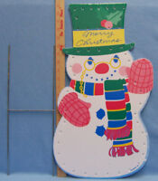 Countdown to christmas snowman lighted digital clock yard for 36 countdown to christmas snowman yard decoration