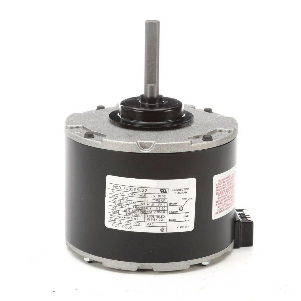 Carrier electric motor 321p313 321p566 1 4hp 1075 rpm for 1 8 hp electric motor