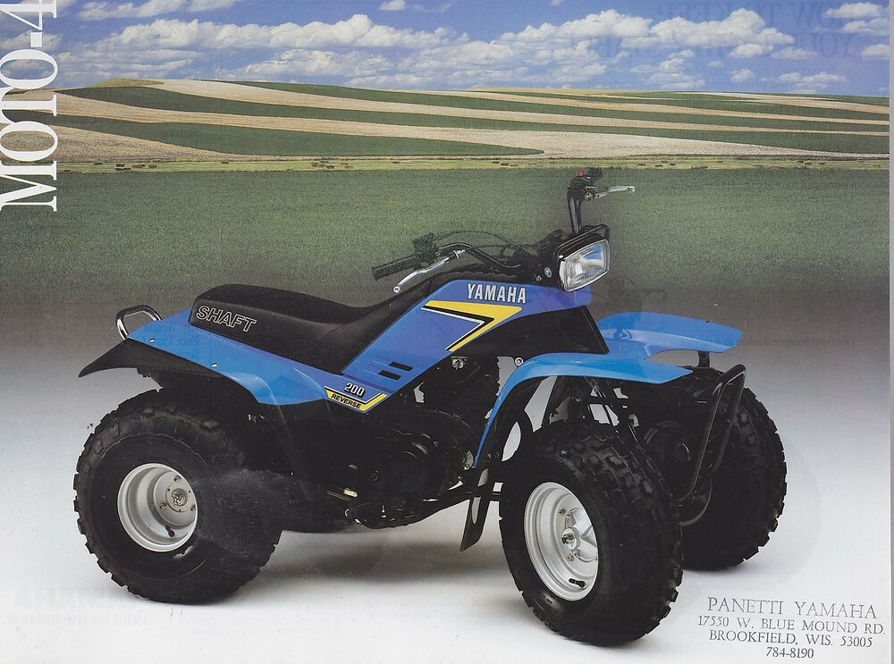 1980s yamaha moto 4 two sided vintage four wheeler ad for Four wheelers yamaha for sale