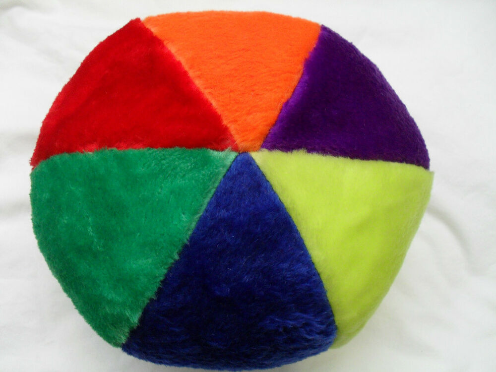 Squishy Ball Plush : LARGE SOFT MULTICOLOURED PLUSH SQUEAKY BALL FOR DOGS AND PUPPIES eBay