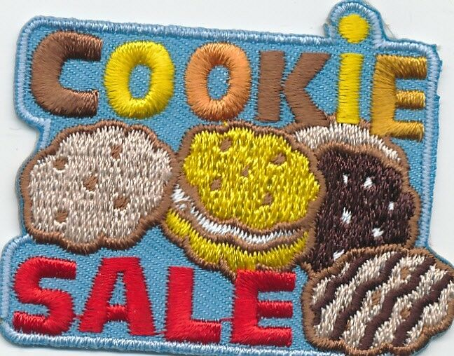 boy girl cookie sale blue selling fun patches crests