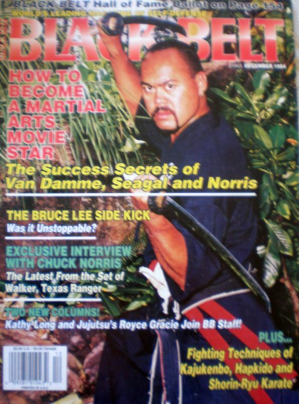 Black Belt Magazine Dec 1990 Bruce Lee Side Kick | eBay