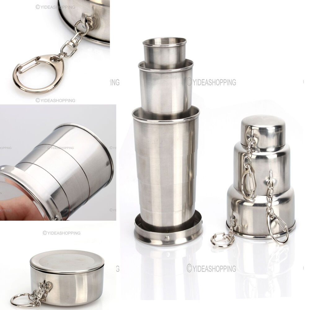 New Stainless Steel Folding Collapsible Cup Travel