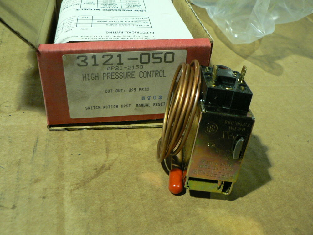 Robert Shaw High Pressure Switch 3121 050 Cut Out 295 Psig