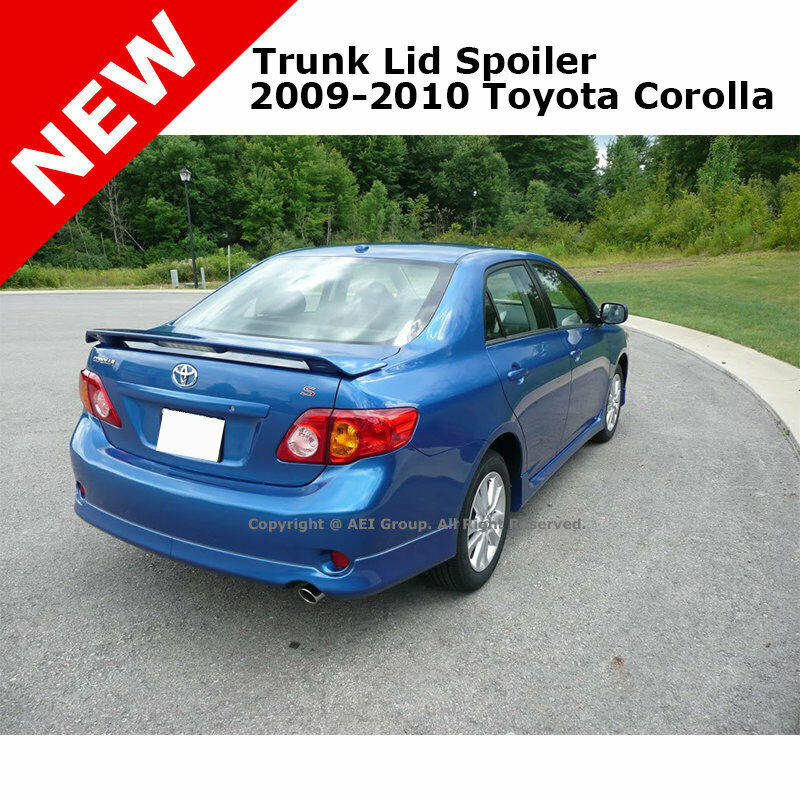 toyota corolla 09 13 abs trunk aero rear wing spoiler. Black Bedroom Furniture Sets. Home Design Ideas