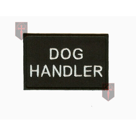 img-- Hook (Sticky) Backed - DOG HANDLER Patch Badge ( Close Protection Security