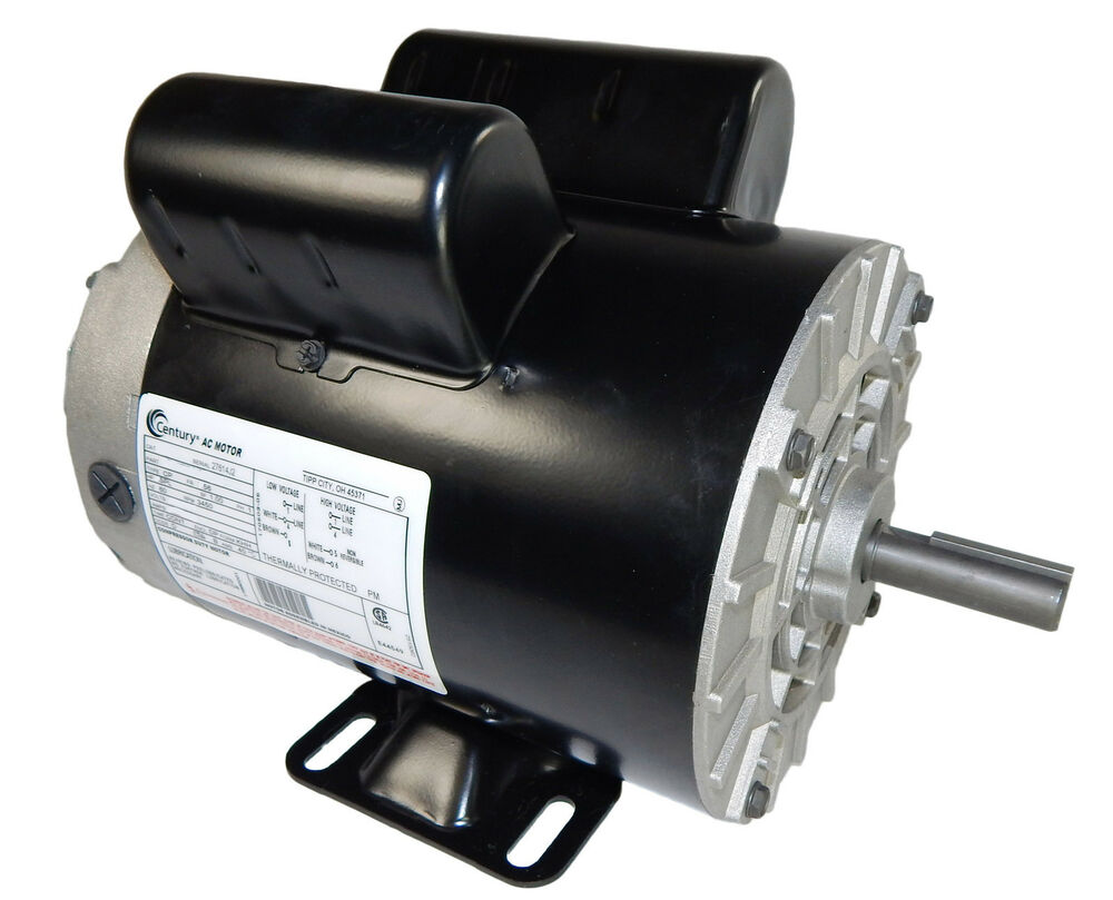 hp rpm air compressor electric motor volts ~new 5 hp 3450 rpm air compressor electric motor 208 230 volts ~new century b385